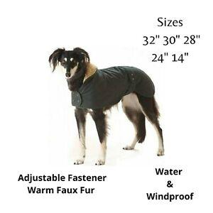 "Cosipet Greyhound Hunter Waterproof Windproof Dog Coat 32"" 30"" 28"" 24"" 14"" Inch"