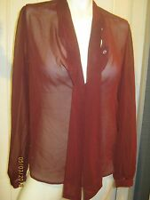 american apparel chiffon secretary blouse s