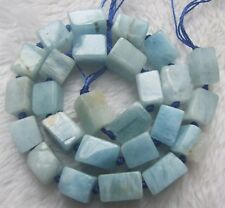 "10x13mm Natural Aquamarine Rectangle Loose Beads 15.5"""