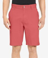 """$125 Calvin Klein 32w Men'S Pink Classic Fit Flat Front 9""""In Casual Shorts"""