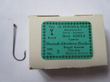 100 Mustad Aberdeen Hooks Size 2