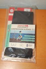 Graduated Calf Compression Sleeves by Danish Endurance Large Black