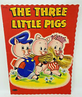 The Three Little Pigs Whitman 2312-15 Vintage 1951 Children's Book 17-1144C