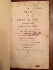 RARE 1802 View of South Carolina, Drayton, MAPS, Folding Plates, Charleston, SC