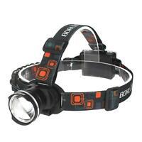 BORUiT RJ-2166 T6 LED Head Lamp Flashlight Zoomable IPX5 Outdoor Headlight IPX5