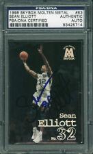 Spurs Sean Elliott Authentic Signed Card 1998 Skybox Metal #83 PSA/DNA Slabbed