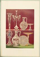 Große 1862 Ausstellung Aufdruck Exemplare Von Graviert Glas Messrs Dobson Pearce