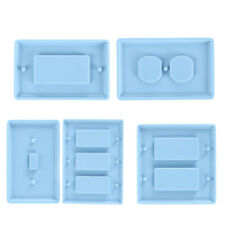 DIY Crafts Making Crystal Epoxy Resin Mold Switch Socket Panel Silicone Mould ~