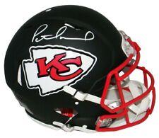 Patrick Mahomes Kansas City Chiefs Signed Authentic Speed Black Helmet JSA