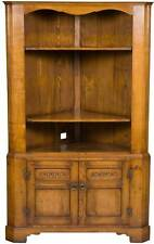 Vintage Antique Style Open Top Corner Cabinet Cupboard Hutch for TV Stand