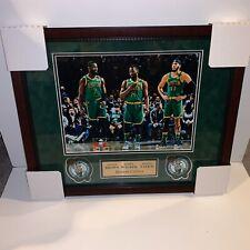Jayson Tatum, Jaylen Brown, Kemba Walker Framed 16x20 Photo Boston Celtics