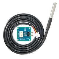 DS18B20 Waterproof Digital Temperature Sensor With Adapter Module for Arduino TW