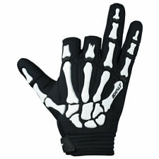 Exalt Death Grip Gloves - Black / White - Small - Paintball
