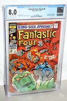 FANTASTIC F0UR ANNUAL #6 CGC 8.0 IST APP. ANNIHILUS FRANKLIN RICHARDS MARVEL