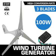 100W 12V 3 blade Wind Turbine Generator boat/marine + Controller low noise