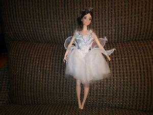 OOB Brunette BARBIE Doll as SWAN QUEEN Ballerina SWAN LAKE