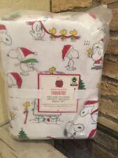 Pottery Barn Kids Peanuts Snoopy Wood Stock Organic Cotton Full Sheet Set New