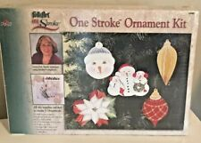 Folk Art One Stroke Ornament Kit #18461 Plaid - Sealed