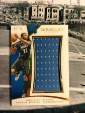 Andrew Wiggins 2014-15 NBA IMMACULATE Jumbo Jersey Patch ROOKIE Card /75