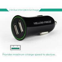 Car Charger Adaptor Bullet Dual/Single USB 2 Port for iPod iPhone 5s 6s Samsung