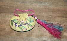 Antique Chinese Embroidery Scent Purse Embroidered Sack Bag Satchel Textile