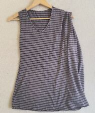 MESOP Top Size 1 Brown White Stripe Yoga Casual Comfy