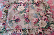 "RALPH LAUREN ""PAGODA"" Ruffled Standard Pillow Sham Vintage Cotton"