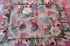 """RALPH LAUREN """"PAGODA"""" Ruffled Standard Pillow Sham Vintage Cotton"""