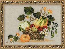 Riolis  1076  Fruits d'automne  Broderie  Point de Croix compté
