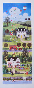 Jane Wooster Scott SUMMER SPARKLE Hand Signed Limited Edition Lithograph Art