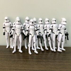 "Lot 10Pcs Star Wars No.5 Clone Trooper 3.75"" Action Figure Clone Wars Toys Gift"