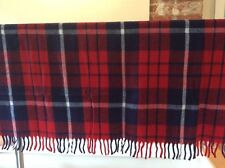 Vintage Plaid Faribo Faribault Campus Pack-A-Robe Blanket 46 x 53 Red & Blue