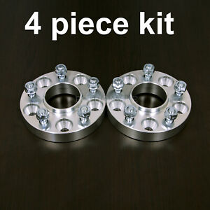 """4pc 25mm (1"""") Hubcentric 5x108 to 5x108 Wheel Spacers - 63.4 Bore - 12x1.5 Studs"""