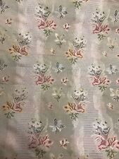 Scalamandre Marquis Silk Floral Stripe Lampas Fabric 5 Yards Green