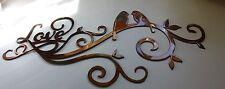 Love Scroll with Love Birds Metal Wall Art Decor