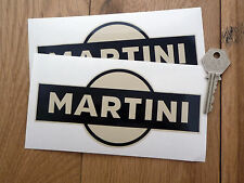 "MARTINI Black & Beige Car Stickers 6"" Pair Vintage Retro Custom Hot Rod Racing"