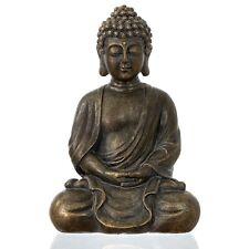 "dharma emporium Buddha Statue, Antique Bronze Finish, 8"", Meditating,Amitābha"