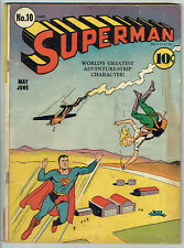 Superman 10 Vg/4.0 - Rare early Restored issue from 1941!