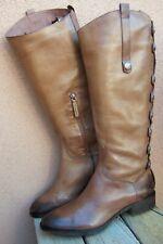 SAM EDELMAN Womens Knee High Fashion Boots Cognac Brown Leather Riding Size 9.5M