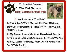 """Larger 8"""" x 10"""" Puggle House Rules Refrigerator / Tool Box Magnet"""