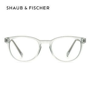 Shaub & Fischer Round Transparent Reading Glasses +0.50 to +6.00