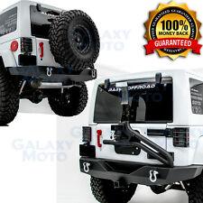 Full Width Rear Bumper+Tire Carrier+Single handed Linkage fit 07-17 JK Wrangler