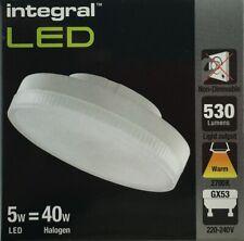 GX53 LED 5W WARM WHITE 2700K INTEGRAL 530lm NON DIM 5 Watt under cabinet
