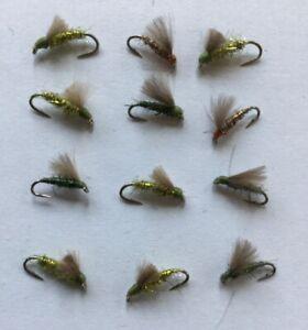 1 Dozen (12) Assorted Size Montana Fly Company Duckass Submerger (DA-1)