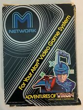 Atari 2600 Mattel M Network ADVENTURES OF TRON w/ box inst. manual TESTED WORKS