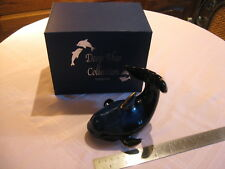 Dehua Porcelain Whale with Gold Accents from Deep Blue Collection by Green Tree
