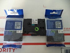 """3 COMPATIBLE BROTHER BLACK WHITE LABEL TAPE 12mm 1/2"""" TZe 231 EZ TOUCH 1180 F P"""
