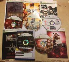5 XBOX 360 GAMES BUNDLE SAINTS ROW GEARS OF WAR FABLE 2 KANE & LYNCH & CRACKDOWN