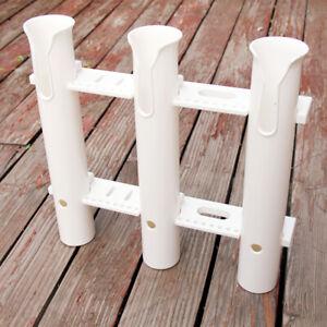 3 Tube Fishing Rod Holder Pole Rest Rack Bracket Mount For Marine Boat Fishing
