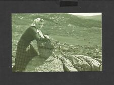 Nostalgia Postcard Crofter Gathering fuel peat cut from bogs Island Harriss 1955